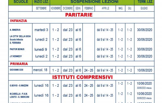Calendario Scolastico 2020 18 Puglia.Al Via Il Nuovo Anno Scolastico Comune Di Canosa Di Puglia